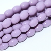 50 Czech Rice Pearls 6 x 4 mm Lilac 48224